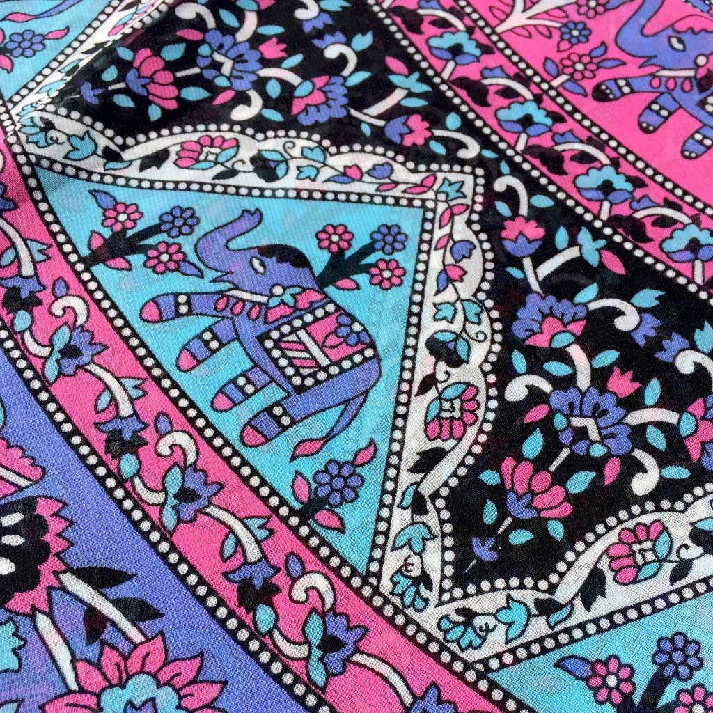 Mandala Fabric Shawl Elephant Pattern My Yoga Lifestyle